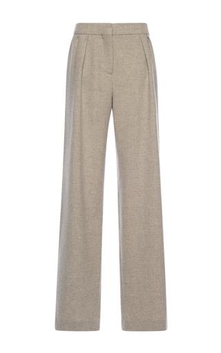 Medium alberta ferretti tan wool pleated straight pants