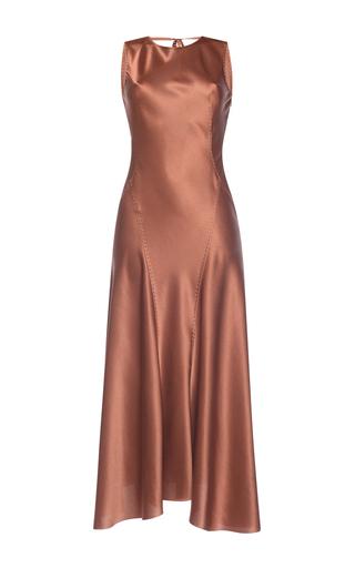 Medium alberta ferretti metallic silk sleeveless dress