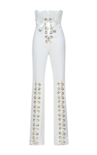 Medium francesco scognamiglio white stretch high waist pant