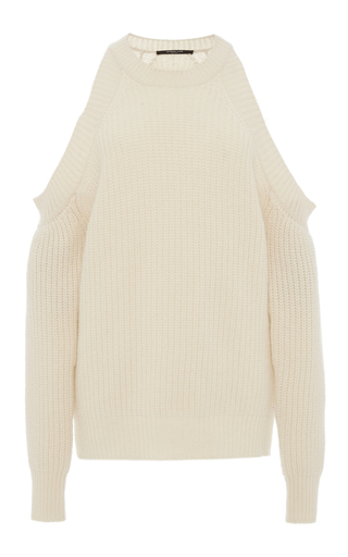 Medium derek lam tan cashmere cutout sweater