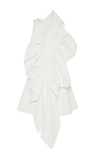 Medium maticevski white ornamental ruffled front dress