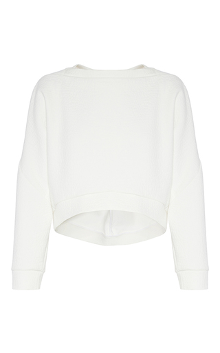 Medium maticevski white occurrence cropped sweater