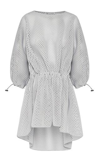 Medium maticevski light grey pictorial balloon sleeved dress