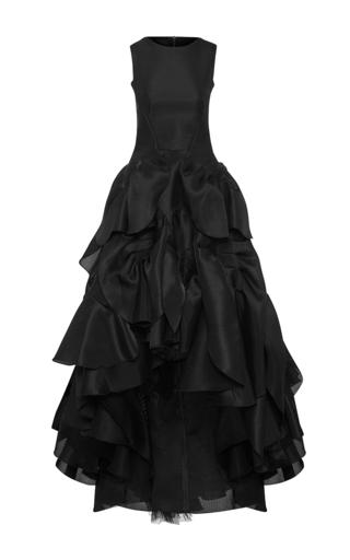 Medium maticevski black vanquished high low gown