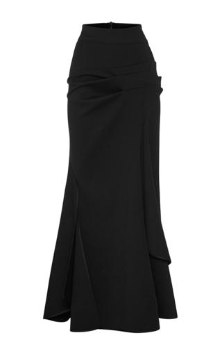 Medium maticevski black succession longline skirt