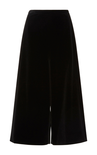 Medium rosetta getty black fluid flare culottes