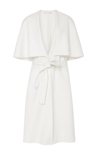 Medium rosetta getty ivory wool cape vest
