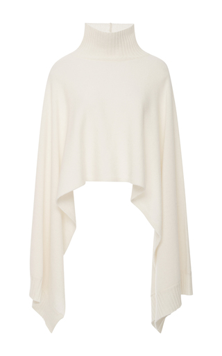 Medium rosetta getty ivory turtleneck cape sweater