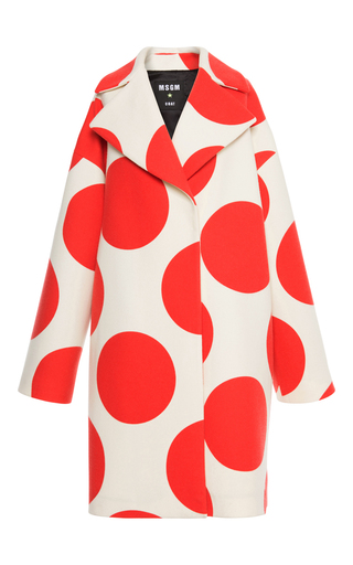 Medium msgm print oversized dot coat