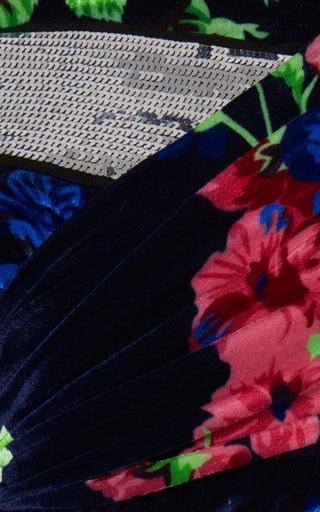 Embellished Floral Velvet Dress by MSGM Now Available on Moda Operandi