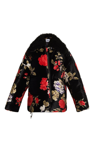 Medium msgm floral quilted floral winter jacket