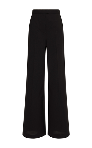 Medium msgm black wide leg wool trouser