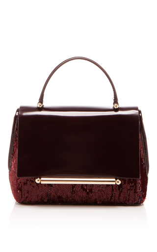 Medium delpozo burgundy mini bo bag 5