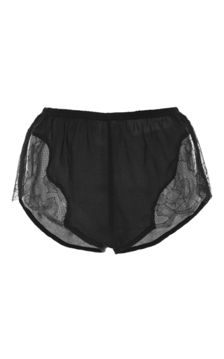 Medium fleur du mal black lace tap short