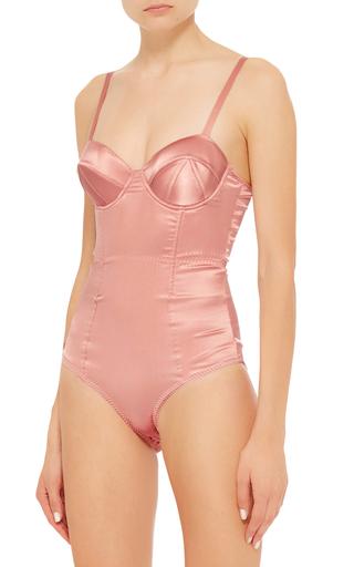 Satin Bodysuit by FLEUR DU MAL Now Available on Moda Operandi