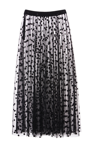Medium giamba black polka dot tulle skirt