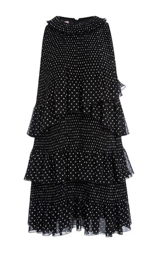 Medium giamba black layered polka dot dress