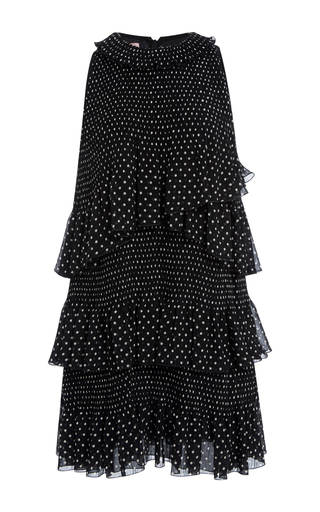 Medium giamba black layered polka dot dress