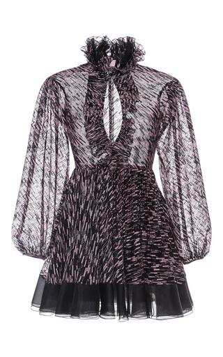 Medium giamba black printed flounce mini dress