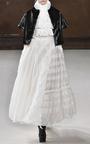 Ruffle Neck And Bodice Blouse by GIAMBA Now Available on Moda Operandi