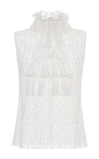 Medium giamba white ruffle neck and bodice blouse
