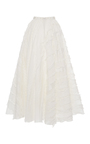Embroidered A Line Maxi Skirt by GIAMBA Now Available on Moda Operandi