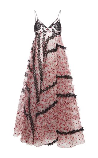Medium giamba black floral embellished maxi tank dress