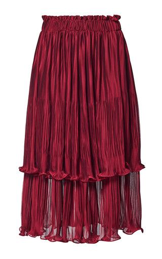 Medium romance was born red devotion pleated skirt