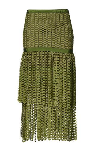 Medium romance was born green link garden skirt