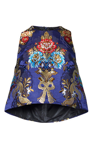 Medium romance was born floral opulent silk brocade tank