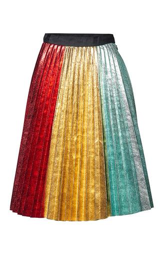 Medium romance was born multi rainbow pleat skirt