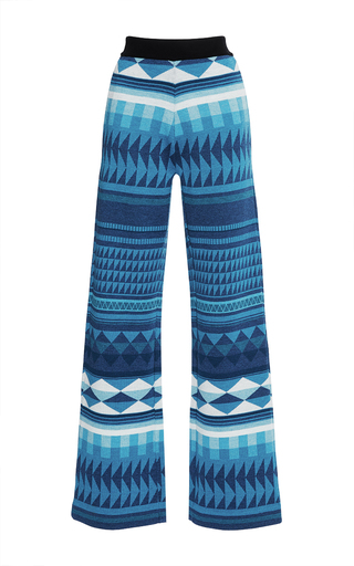 Medium stella jean print vedere knit pants