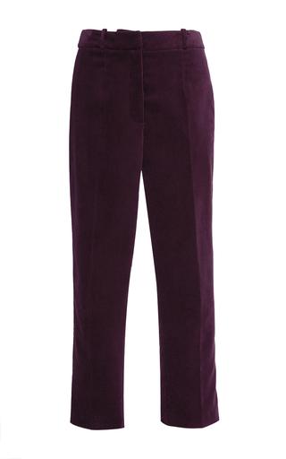 Medium stella jean burgundy continuare velvet trouser