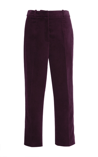 Medium stella jean burgundy continuare velvet trouser