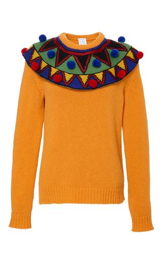 Medium stella jean yellow comporre pom pom sweater