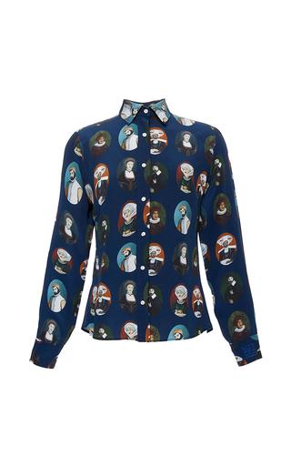 Medium stella jean blue immaginare printed shirt