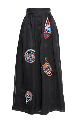 Medium stella jean black proporre embroidered pant