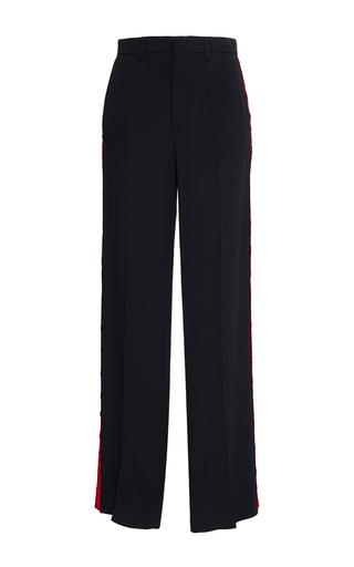 Medium stella jean black vigilare tuxedo trouser