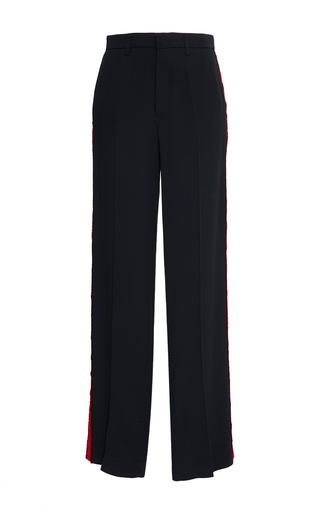 Medium stella jean black vigilare tuxedo trouser