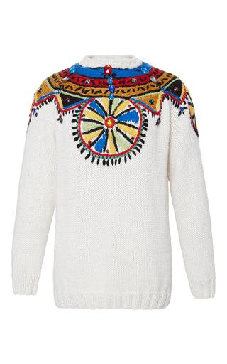 Medium stella jean white white contenere embroidered sweater