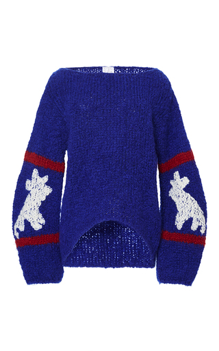 Medium stella jean blue voltare intarsia sweater  2