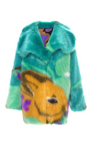 Medium marco de vincenzo multi bunny faux fur coat