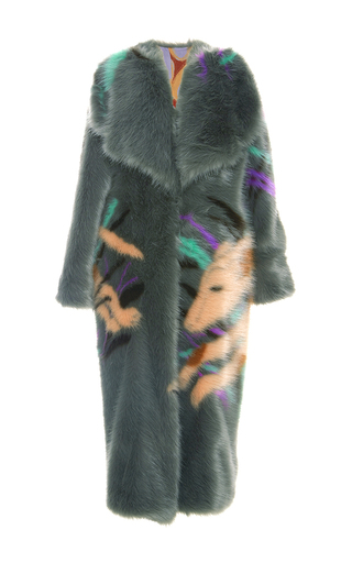Medium marco de vincenzo multi animal print faux fur coat