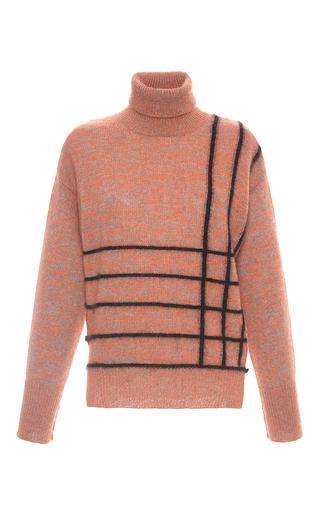 Medium marco de vincenzo stripe striped mohair turtleneck sweater