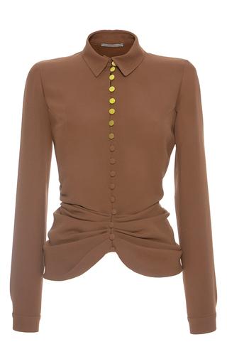 Medium marco de vincenzo tan contrast button shirt