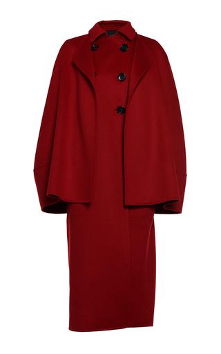 Medium agnona red double face cashgora cape coat