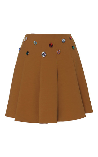 Medium vivetta brown ficus mini skirt