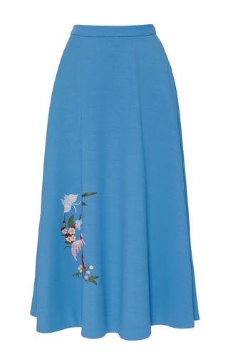 Medium vivetta blue millefoglio maxi skirt