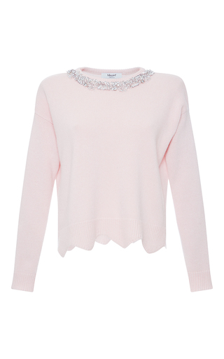 Medium blugirl light pink embellished neck sweater