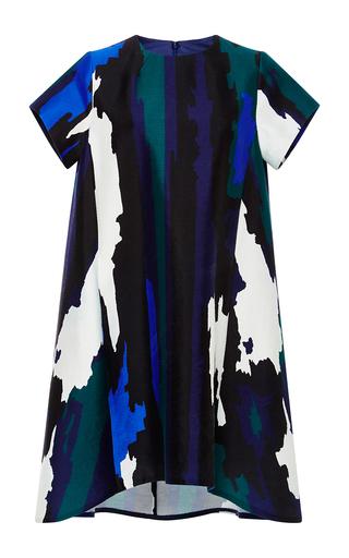 Medium whit multi palais jagged stripe dress